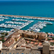 Moraira Club Nautico marina aerial view in Alicante — Stock Photo