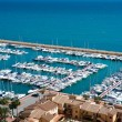 Moraira Club Nautico marina aerial view in Alicante — Stock Photo #39745845