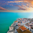 Peniscola beach and Village aerial view in Castellon Spain — Stock Photo #39748889