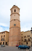 Castellon el Fadri belfry tower in Plaza Mayor square — Stock Photo