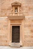 Castellon el Fadri tower door in Plaza Mayor square — Stock Photo
