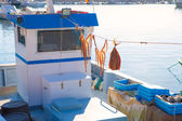 Javea in alicante fisherboats in Mediterranean sea — Stock Photo