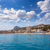 Javea Xabia port marina with Mongo mountain in Alicante — Stock Photo