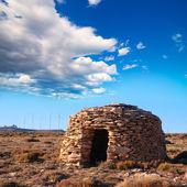Maestrazgo shepherd shelter in Castellon Windmills — Stock Photo