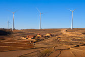 Maestrazgo in Castellon Windmills with traditional rural life — Stock Photo