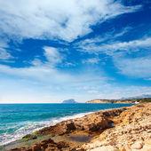 Ifach penon uitzicht vanaf moraira alicante — Stockfoto