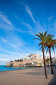 Peniscola Castle and beach in Castellon Spain — Stock Photo