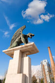 Valencia Pont del Regne reino bridge guardian gargoyles — Stock Photo