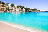 Porto Cristo beach in Manacor Majorca Mallorca — Stock Photo