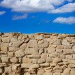 Tabarca Island battlement fort masonry wall detail — Stock Photo #39755523