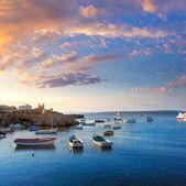 Tabarca islands boats in alicante Spain — Stock Photo