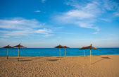 Mediterranean beach in Valencia province — Stock Photo