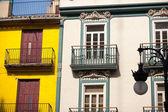 Valencia downtown facades near Central Market — Stock Photo