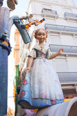 Fallas in Valencia fest figures that will burn on March 19 — Stock Photo