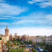 Valencia historic downtown El Miguelete and Cathedral — Stock Photo