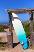 California surfboard on beach in Cabrillo Highway Route 1 — Stock Photo