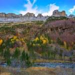 Faja de Pelay in Ordesa valley Pyrenees Huesca Spain — Stock Photo