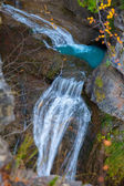 Cascada del Estrecho waterfall in Ordesa valley Pyrenees Spain — Stock Photo