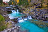 Gradas de Soaso in Arazas river Ordesa valley Pyrenees Huesca Sp — Stock Photo