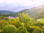 Aribe on Azcoa Valley of Pyrenees in Navarra Spain — Stock Photo