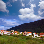 Obarba village in Navarra near Irati Pyrenees — Stock Photo