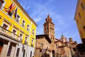 Aragon Teruel Cathedral and Ayuntamiento Town Hall Spain — Stock Photo