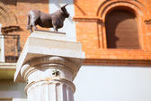 Aragon Teruel El Torico statue Plaza Carlos Castel Spain — Stock Photo