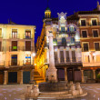 Aragon Teruel plazel Torico Carlos Castel square Spain — Stock Photo #41770953