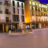 Aragon Teruel plaza el Torico Carlos Castel square Spain — Stock Photo