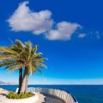 Altea beach balconade typical white Mediterranean village Alican — Stock Photo #42188675