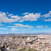 Alicante skyline aerial from Santa Barbara Castle Spain — Stock Photo