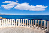 Altea beach balconade typical white Mediterranean village Alican — Stock Photo