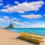 Calpe playa Arenal Bol beach near Penon Ifach Alicante — Stock Photo #42198755