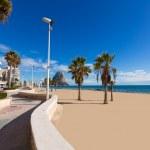Calpe playa Arenal Bol beach near Penon Ifach Alicante — Stock Photo #42199597