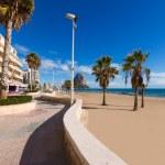 Calpe playa Arenal Bol beach near Penon Ifach Alicante — Stock Photo