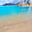 Calpe playa Cantal Roig beach near Penon Ifach Alicante — Stock Photo