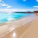 Calpe playa Cantal Roig beach near Penon Ifach Alicante — Stock Photo #42200545