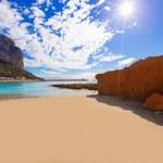 Calpe playa Cantal Roig beach near Penon Ifach Alicante — Stock Photo