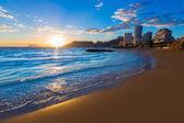 Calpe alicante i̇spanya plaj cantal roig gün batımında — Stok fotoğraf