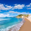 Moraira playa El Portet beach turquoise water in Alicante — Stock Photo