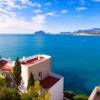 Mediterranean houses in Moraira Teulada at Alicante — Stock Photo
