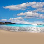 Moraira Playa la Ampolla beach in Teulada Alicante Spain — Stock Photo