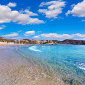 Moraira Playa la Ampolla beach in Teulada Alicante Spain — Stock Photo