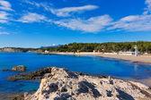 Moraira Playa la Ampolla beach in Teulada Alicante Spain — Stockfoto