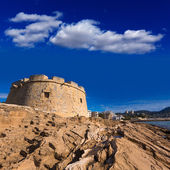 Moraira Castle in teulada beach at Mediterranean Alicante — Stock Photo