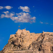Alicante Santa Barbara castle in Mediterranean spain — Stock Photo