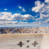 Valencia aerial skyline from el Miguelete tower Spain — Stockfoto