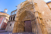 Valencia Cathedral Apostoles door Tribunal de las Aguas — Stock Photo