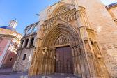 Valencia Cathedral Apostoles door Tribunal de las Aguas — Stock Photo
