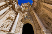 Valencia cathedral door in plaza de la Reina square Spain — Stock Photo